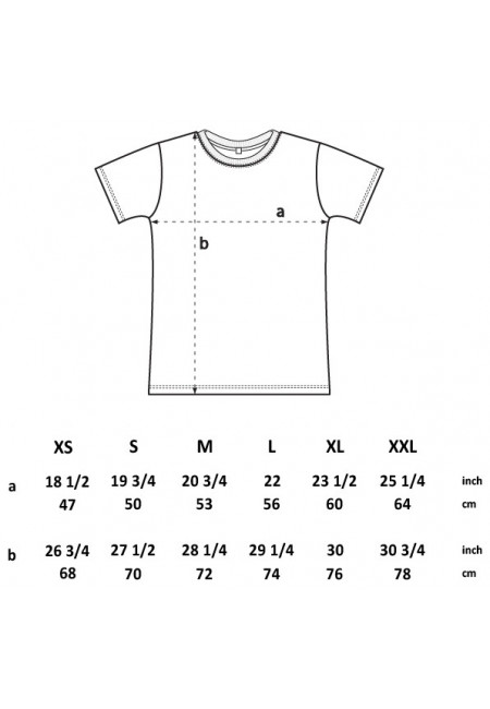 Size Chart EarthPositive EP18 - Men's / Unisex HEAVY T-shirt - Climate Neutral