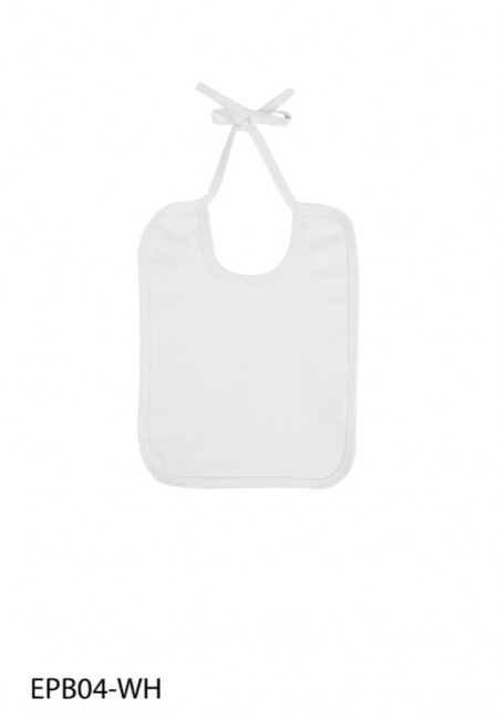 White EarthPositive EPB04 - Organic Bib