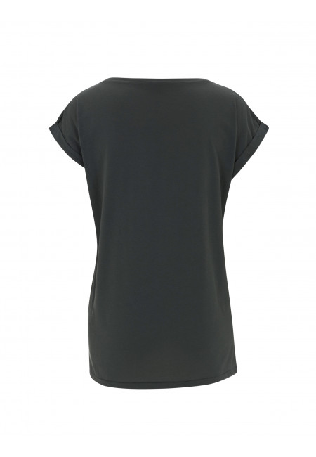 Charcoal Grey Continental N20 - Women's Rolled Sleeve Tunic T-shirt
