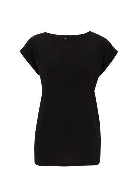 Black Continental N20 - Women's Rolled Sleeve Tunic T-shirt