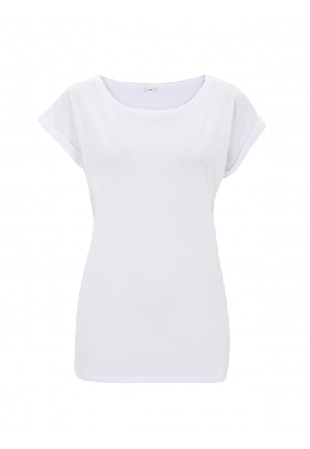 White Continental N20 - Women's Rolled Sleeve Tunic T-shirt
